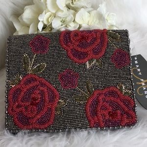 🆕Mary Frances Beaded Rose Bag NWT